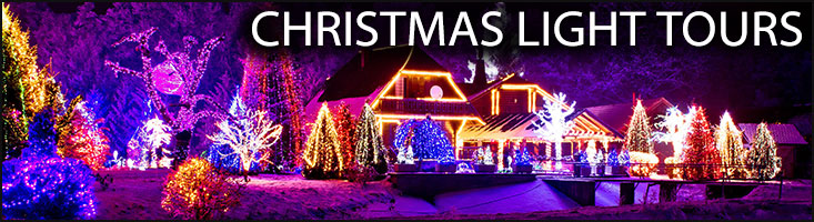 Holiday gifts and christmas lights tours wine brew