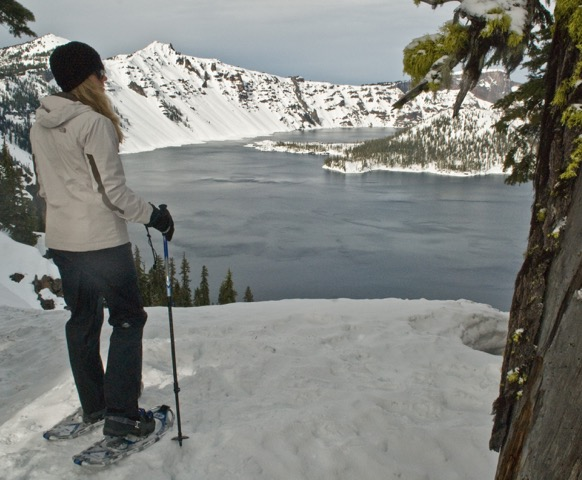 Snowshoeing in Oregon's Crater Lake National Park